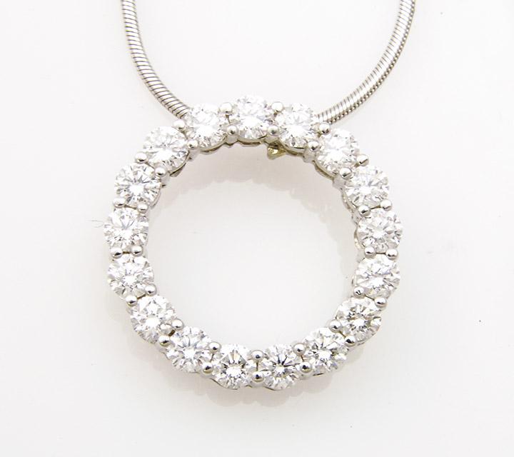 eternity pendant with diamonds