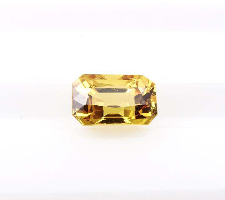 yellow gem Ceylon emerald